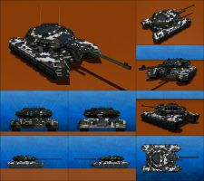 Diablo Mark II Heavy Battle Tank by Raven-Gold