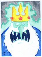 The Ice King Arriveth sketch card by johnnyism