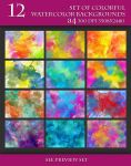 Beautiful Bright Watercolor Backgrounds by Love-Kay