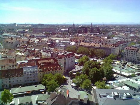Top View of Munich 33 by Saphierra