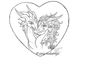 A Dragon's Valentine - Lines by Ember-Eyes