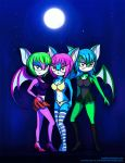 Night Vixens (Commission for platinummanaxl) by yuukipink