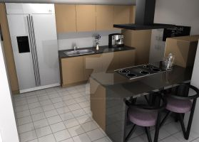 3D KITCHEN by zavijavasin