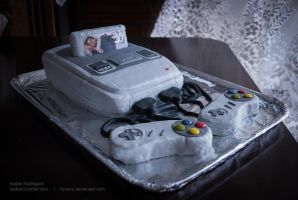 Super Nintendo cake (PAL version) by Hyzave