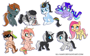 Chibi pony commissions by ka-samy