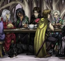 Wizard Tea: The Next Five (six) Guests by Kabudragon