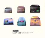 SERVERS free vector pack by Raindropmemory
