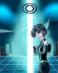 Tron Legacy Style Pixar by Rosyane