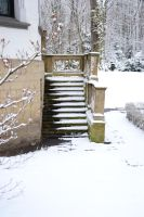 Winter Stairs by feainne-stock