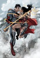 Superman and Wonder Woman: Power Couple by timothylaskey