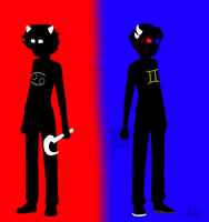 karkat and sollux: I got your back by TheAssholeProphet