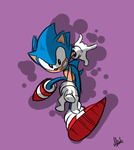 Sonic T-Shirt sketch by SemiAverageArtist