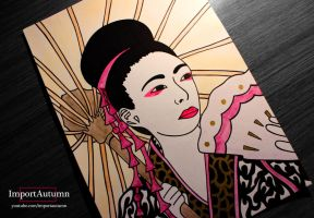 Daily Drawing #2 - Geisha Portrait [Vlog] by ImportAutumn