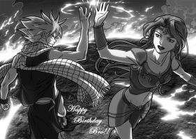 Natsu n Fyre Fire Mages Rock by xongs by JazylH