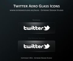 Twitter Aero Glass Icons by eds-danny