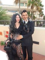 morticia and gomez metrocon 2014 by FiveFootFireStarter