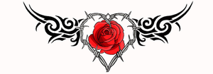 Barbwire heart rose tattoo by moatswimmer-inugrl