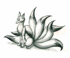 Seven Tailed Fox by raven211