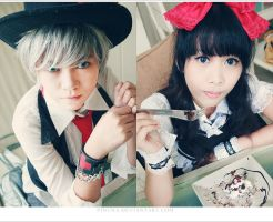 Mr. Madhatter and Ms. Alice by pinuna