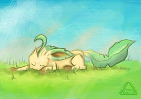 Dec PKMN Challenge, Day 10, Leafeon by SleepyHeadKL