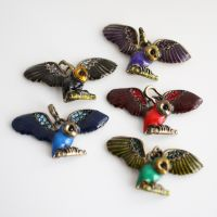 12 Owl Pendants FOR SALE by MonsterBrandCrafts