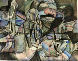 Overlapping Figures Interlude by abflabby