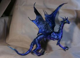 Night Dragon fully poseable dragon doll 1 by kessan
