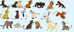 Lion Cub Adoptables - 3 Left by Sapphira-Page