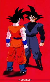 goku vs goku by salvamakoto