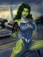 She-Hulk Fantasic Four outfit by SunsetRiders7