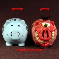 Rot Cyclops Grin Piggy Bank 2 by Undead-Art