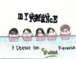 my chemical romance cupcakes by unknownartist565