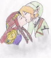 Link and Zelda by zeldagirl6534