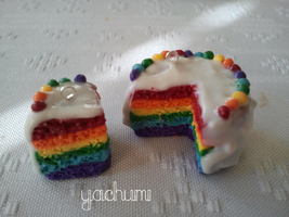Miniature rainbow cake 2 by yachumichan77