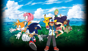 Sonic And Pokemon BW X Poster by Aquamimi123
