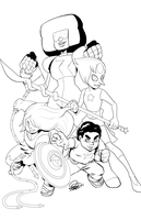 We Are The Crystal Gems Inks by DRMoore