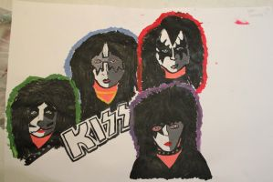 KISS painting by glam-junkie666
