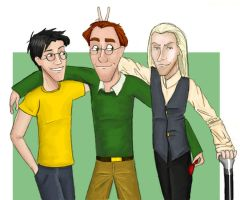 James, Arthur, and Lucius by julvett