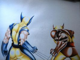 WOLVERINE AND DARK WOLVERINE5 by SWAVE18