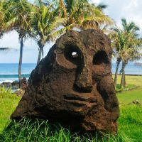 Stone carving 1 - Easter Island by wildplaces