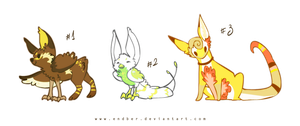 Adoptables set 3 [closed] by Endber