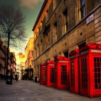 5 phones street by photo-earth