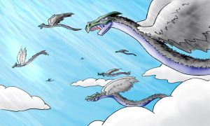 Flight of the Quetzalcoatl by Brierose