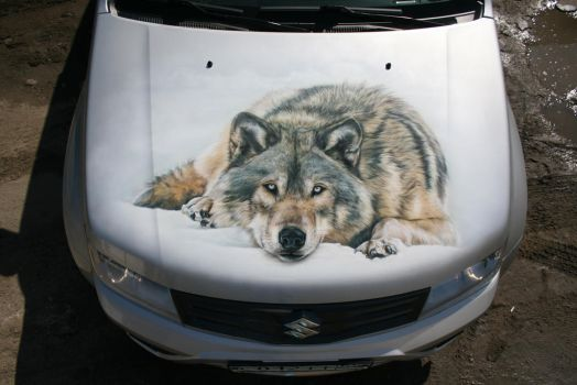 wolves on suzuki grand vitara 7 by hotabych