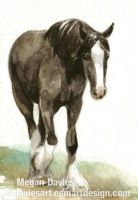 Clydesdale ACEO by Pannya