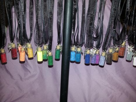 Pixie Dust/Fairy Dust necklaces by GlitterFox