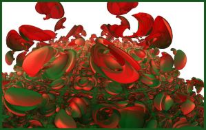 red green but only in the image by GLO-HE