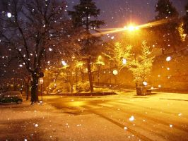 Snowing by PicculaEly