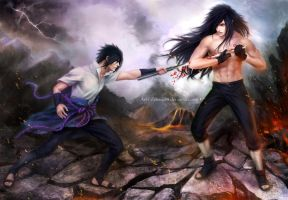 Return of the Legend / MADARA vs Sasuke /  657 by Zetsuai89