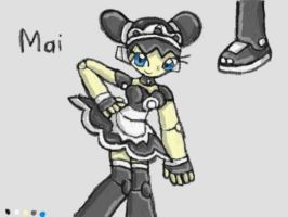 Mai the Robo Maid Reference Sheet by SurgeCraft